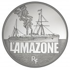 50 euro France 2012 argent BE - L'Amazone Avers