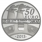 50 euro France 2012 argent BE - L'Amazone Revers