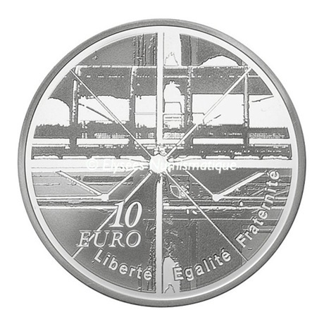 (EUR07.ComBU&BE.2010.1000.BE.10041263350000) 10 euro France 2010 argent BE - Centre Georges Pompidou Revers