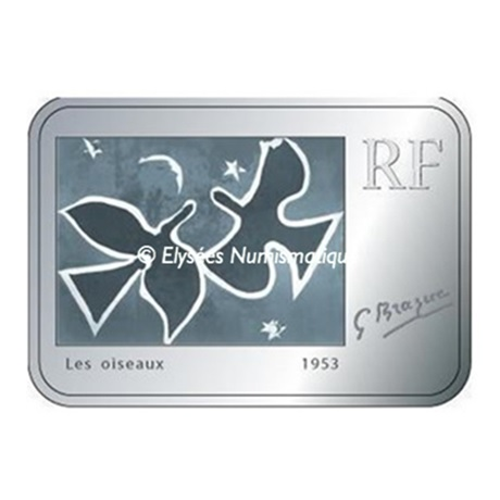 (EUR07.ComBU&BE.2010.1000.BE.10041263610000) 10 euro France 2010 argent BE - Georges Braque Avers