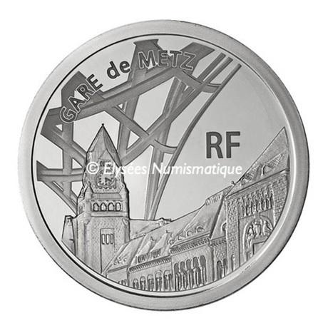 (EUR07.ComBU&BE.2011.1000.BE.10041269090000) 10 euro France 2011 argent BE - Gare de Metz Avers