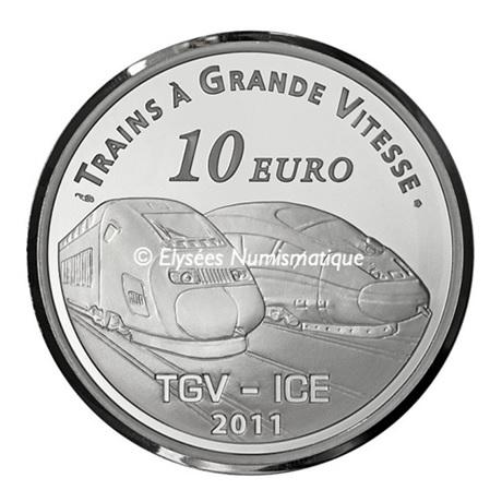 (EUR07.ComBU&BE.2011.1000.BE.10041269090000) 10 euro France 2011 argent BE - Gare de Metz Revers