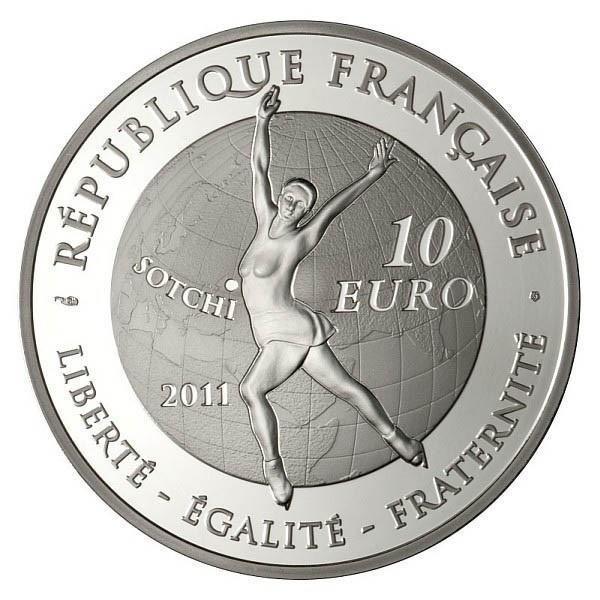(EUR07.ComBU&BE.2011.1000.BE.10041269110000) 10 euro France 2011 Proof Ag - Figure skating Reverse (zoom)