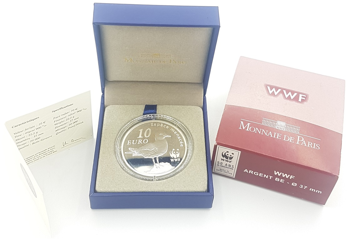 (EUR07.ComBU&BE.2011.1000.BE.10041269140000) 10 euro France 2011 Proof silver - Audouin's gull (zoom)