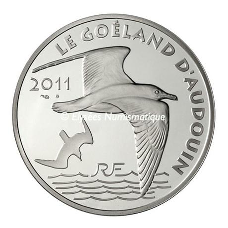 (EUR07.ComBU&BE.2011.1000.BE.10041269140000) 10 euro France 2011 argent BE - Le Goéland d'Audouin Avers