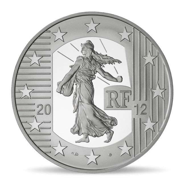 (EUR07.ComBU&BE.2012.1000.BE.10041274980000) 10 euro France 2012 Proof silver - Sower Obverse (zoom)