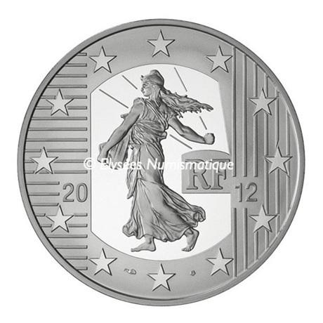 (EUR07.ComBU&BE.2012.1000.BE.10041274980000) 10 euro France 2012 argent BE - Semeuse Avers