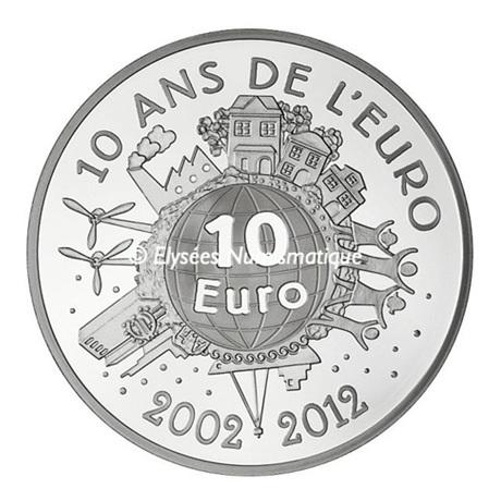 (EUR07.ComBU&BE.2012.1000.BE.10041274980000) 10 euro France 2012 argent BE - Semeuse Revers