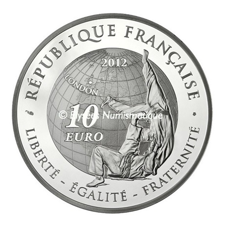 (EUR07.ComBU&BE.2012.1000.BE.10041275500000) 10 euro France 2012 argent BE - Judo Revers