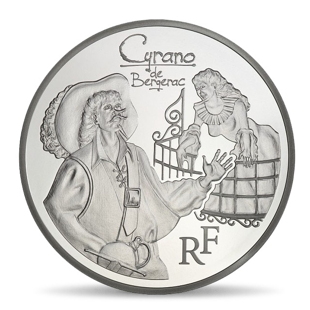 (EUR07.ComBU&BE.2012.1000.BE.COM12) 10 euro France 2012 Proof silver - Cyrano Obverse (zoom)