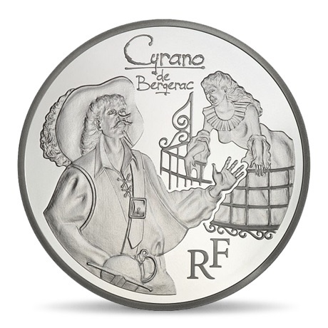 (EUR07.ComBU&BE.2012.1000.BE.COM12) 10 euro France 2012 argent BE - Cyrano Avers