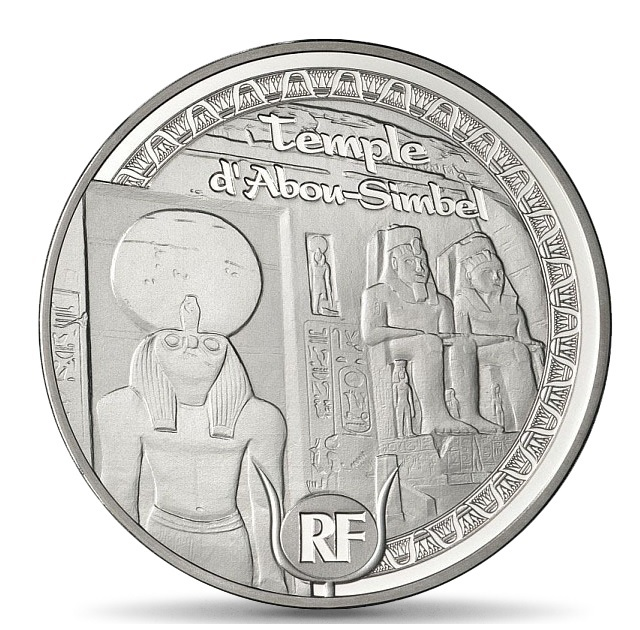 (EUR07.ComBU&BE.2012.1000.BE.COM13) 10 euro France 2012 Proof silver - Egyptian heritage Obverse (zoom)