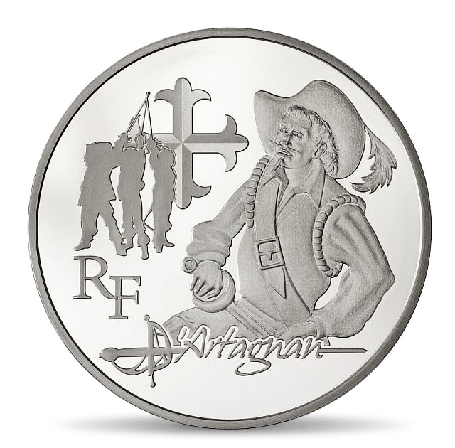 (EUR07.ComBU&BE.2012.1000.BE.COM15) 10 euro France 2012 Proof silver - d'Artagnan Obverse (zoom)