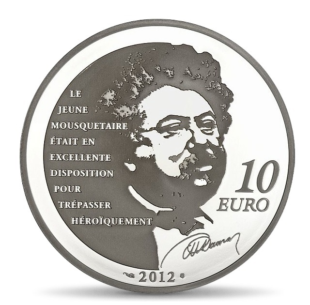 (EUR07.ComBU&BE.2012.1000.BE.COM15) 10 euro France 2012 Proof silver - d'Artagnan Reverse (zoom)