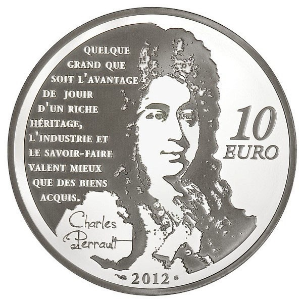 (EUR07.ComBU&BE.2012.1000.BE.COM19) 10 euro France 2012 Proof silver - Puss in Boots Reverse (zoom)