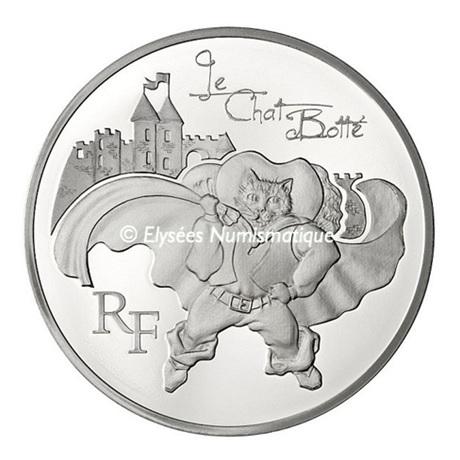 (EUR07.ComBU&BE.2012.1000.BE.COM19) 10 euro France 2012 argent BE - Le Chat Botté Avers