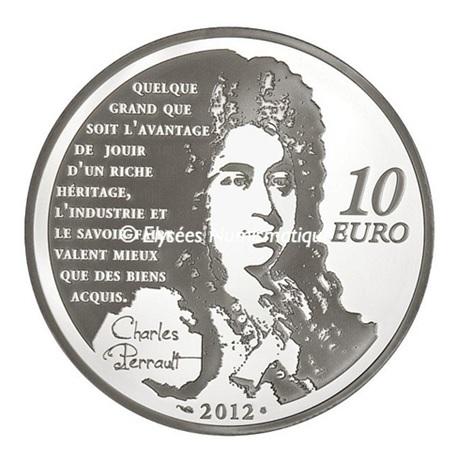 (EUR07.ComBU&BE.2012.1000.BE.COM19) 10 euro France 2012 argent BE - Le Chat Botté Revers
