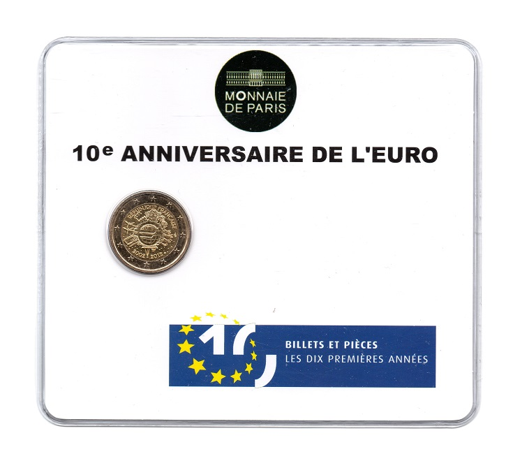 (EUR07.ComBU&BE.2012.200.BU.10041274930000) 2 euro France 2012 BU - 10 years of euro cash Front (zoom)