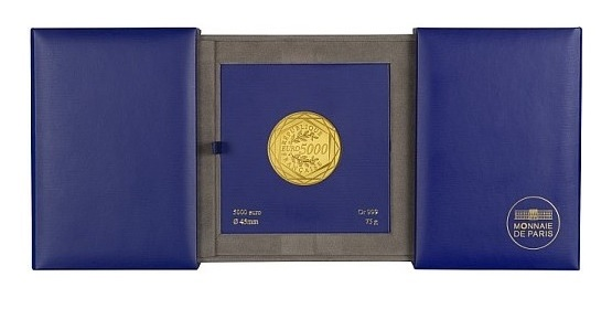 (EUR07.ComBU&BE.2013.10041281900000) 5000 euro France 2013 BU gold - Hercules (open packaging) (zoom)