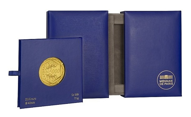 (EUR07.ComBU&BE.2013.10041281900000) 5000 euro France 2013 BU gold - Hercules (packaging) (zoom)