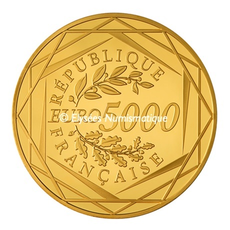 (EUR07.ComBU&BE.2013.10041281900000) 5000 euro France 2013 or BU - Hercule Revers