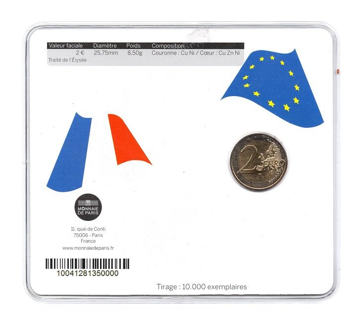 (EUR07.ComBU&BE.2013.200.BU.10041281350000) 2 euro France 2013 BU - Elysee Treaty Back (zoom)