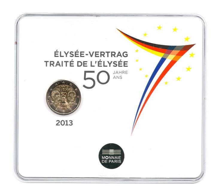 (EUR07.ComBU&BE.2013.200.BU.10041281350000) 2 euro France 2013 BU - Elysee Treaty Front (zoom)
