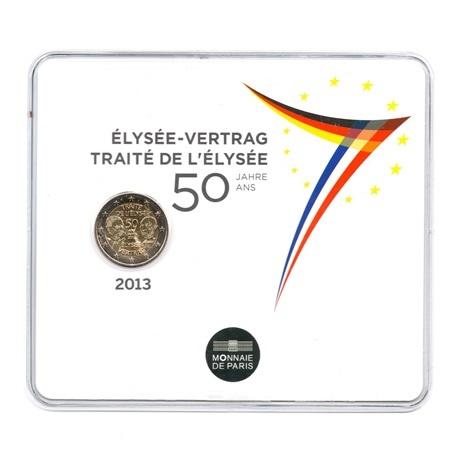 (EUR07.ComBU&BE.2013.200.BU.10041281350000) 2 euro France 2013 BU - Traité de l'Elysée Recto