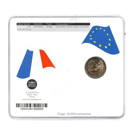(EUR07.ComBU&BE.2013.200.BU.10041281350000) 2 euro France 2013 BU - Traité de l'Elysée Verso