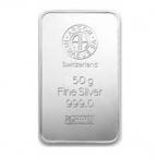 Lingot argent 50 grammes Argor-Heraeus
