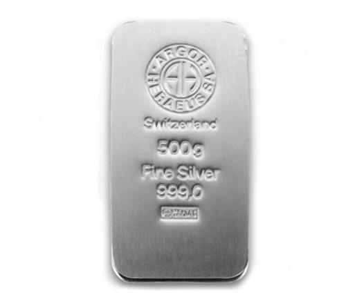 Lingot argent 500 grammes Argor-Heraeus