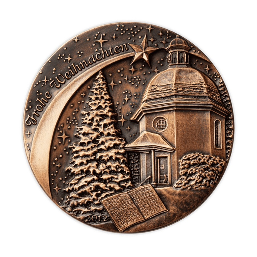 (MED01.Méd.Münze.Ö.2012.19004) Patinated copper medal - Christmas Obverse (zoom)