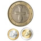 1 et 2 euro Chypre 2008