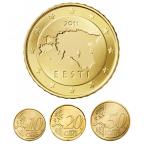 10, 20 et 50 cent Estonie 2011