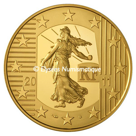 100 euro France 2011 or BE - Semeuse Avers