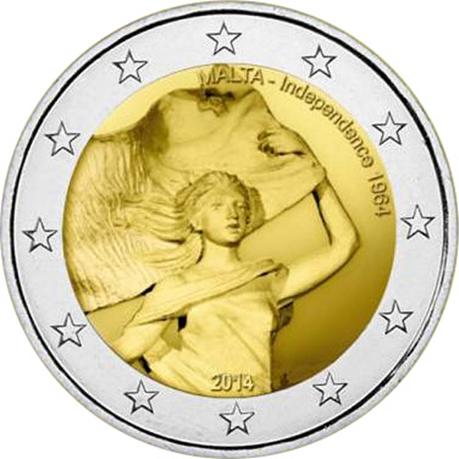 2 euro commémorative Malte 2014 - Indépendance de 1964