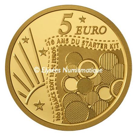 5 euro France 2011 or BE - Semeuse Revers