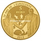 5 euro France 2012 or BE - Europa Revers