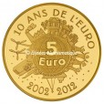 5 euro France 2012 or BE - Semeuse Revers