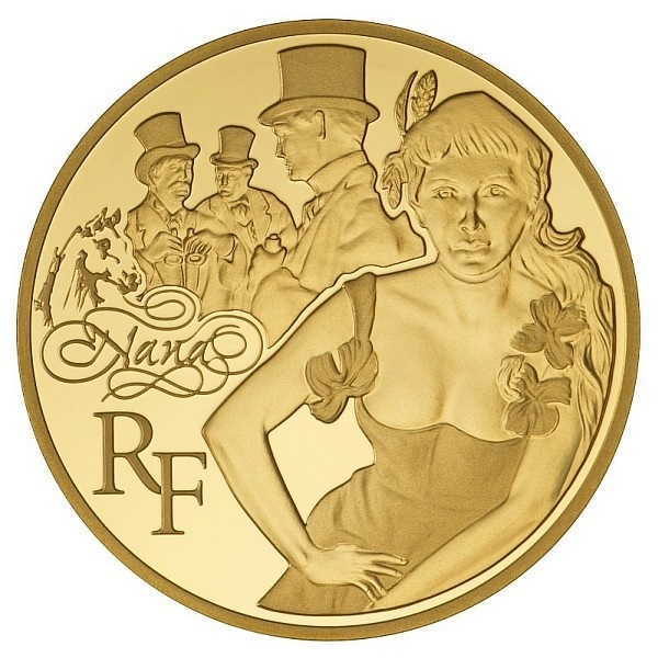 50 euro France 2011 Proof gold - Nana, by Emile Zola Obverse (zoom)