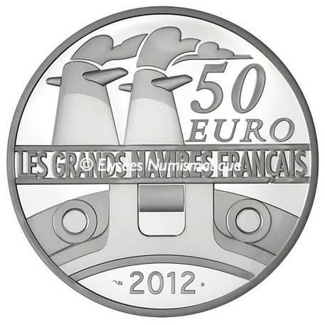 50 euro France 2012 argent BE - Le France Revers