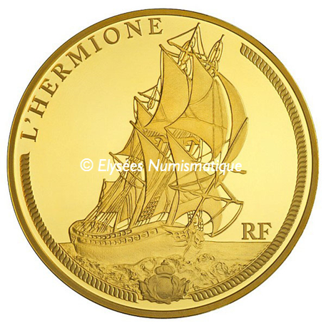 50 euro France 2012 or BE - L'Hermione Avers