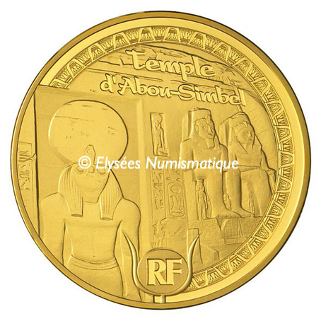 50 euro France 2012 or BE - Patrimoine egyptien Avers