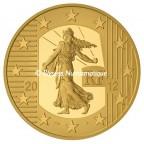 50 euro France 2012 or BE - Semeuse Avers