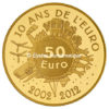 50 euro France 2012 or BE - Semeuse Revers