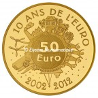 50 euro France 2012 or BE - Semeuse Revers