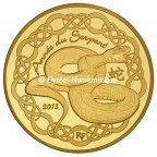 50 euro France 2013 or BE - Année du Serpent Avers