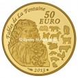 50 euro France 2013 or BE - Année du Serpent Revers