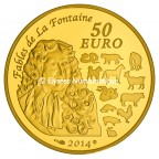 50 euro France 2014 or BE - Année du Cheval Revers