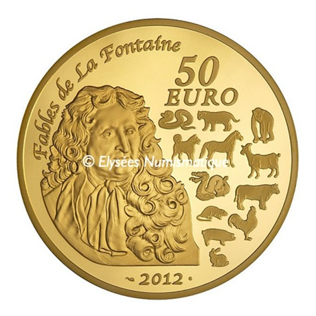 (EUR07.ComBU&BE.2012.10041269370000) 50 euro France 2012 Au BE - Année du Dragon Revers